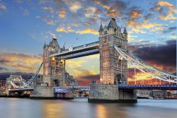 landmark event venue - Tower Bridge on the river Thames